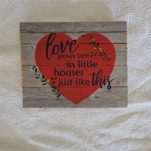 Wooden Hanging Decor Sign